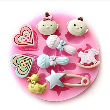 العفن القلب للثلج الشوكولاته الخبز ل كعكة سيليكون عيد الحب دي صديقة للبيئة هالوين