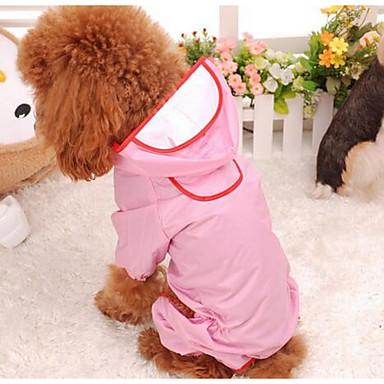 كلب معطف المطر ملابس الكلاب جميل صلب أحمر زهري كوستيوم للحيوانات الأليفة