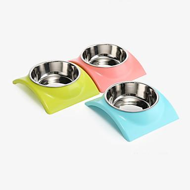 Kot Pies Miski i butelki wody Zwierzęta domowe Miski i Żywienie Wodoodporny Przenośny Green Niebieski Różowy