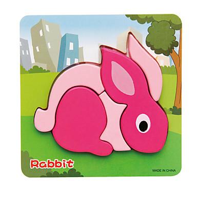 Zabawki 3D Puzzle Zabawki Rabbit 3D Drewniany Dla dzieci 1 Sztuk