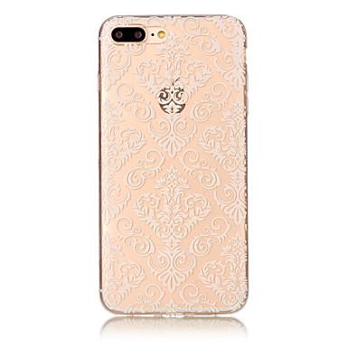 Etui Käyttötarkoitus Apple iPhone 7 Plus iPhone 7 IMD Läpinäkyvä Kuvio Koristeltu Takakuori Lace Printing Pehmeä TPU varten iPhone 7 Plus
