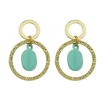 للمرأة أقراط قطرة موديل الزينة المعلقة دائرة سبيكة دائري مجوهرات يوميا فضفاض