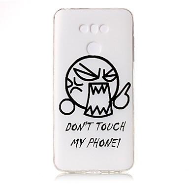 Pentru Carcase Huse Transparent Embosat Model Carcasă Spate Maska Desen animat Cuvânt / expresie Moale TPU pentru LG LG G6