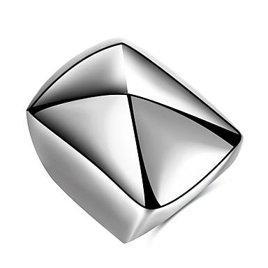 Erkek Yüzük Kişiselleştirilmiş Eşsiz Tasarım Temel Moda Punk Hiphop Rock Euramerican Titanyum Çelik Geometric Shape Mücevher Parti