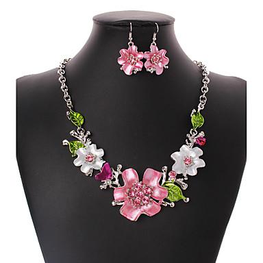 Pentru femei Seturi de bijuterii Euramerican Nuntă Petrecere Ocazie specială Zi de Naștere Logodnă Casual Floare 1 Colier 1 Pereche de