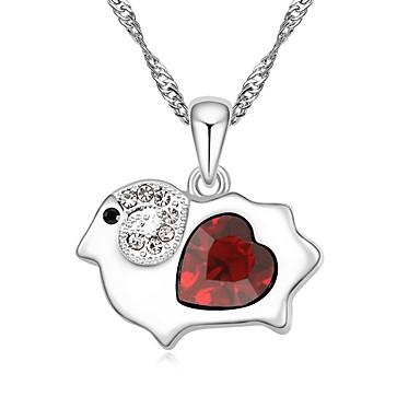 Kadın's Uçlu Kolyeler Mücevher Mücevher Değerli Taş alaşım Eşsiz Tasarım Moda Beyaz Kırmzı Pembe Açık Mavi Açık Yeşil Mücevher IçinParti