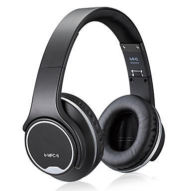 فوق الأذن لاسلكي Headphones بلاستيك الرياضة واللياقة البدنية سماعة مع التحكم في مستوى الصوت مع ميكريفون سماعة