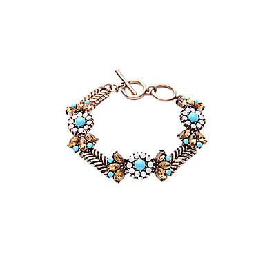 Γυναικεία Βραχιόλια με Αλυσίδα & Κούμπωμα Κοσμήματα Φιλία κοσμήματα πολυτελείας Κράμα Flower Shape Κοσμήματα Για Πάρτι Ειδική Περίσταση