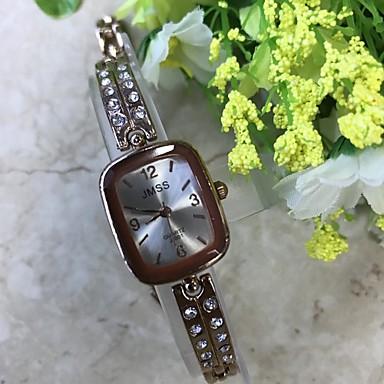 Dames Kwarts Gesimuleerd Diamant Horloge Polshorloge Armbandhorloge Chinees / imitatie Diamond Legering Band Informeel Modieus Goud Rose