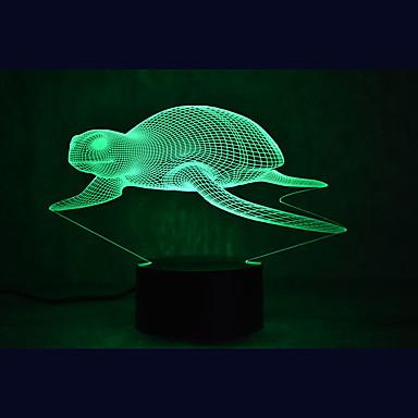 1 parça 3D Gece Görüşü Çok Renkli USB Sensör Kısılabilir Su Geçirmez Renk Değiştiren
