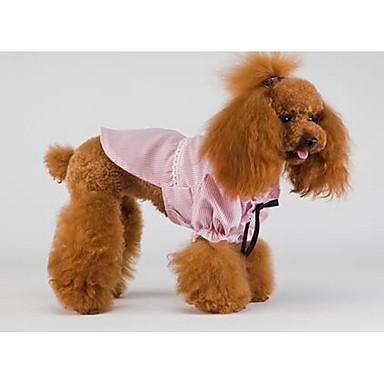 Koira Hameet Koiran vaatteet Sievä Rento/arki Muoti Englantilainen Sininen Pinkki