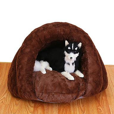 قط كلب الأسرّة حيوانات أليفة سلال سادة ناعم بني للحيوانات الأليفة