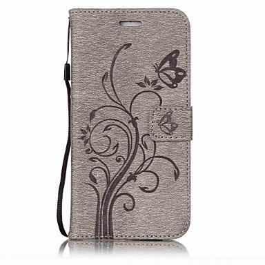 Για iphone 7plus 7 pu δέρμα υλικό λουλούδια πεταλούδα μοτίβο στερεά χρώμα τηλέφωνο περίπτωση 6s plus 6plus 6s 6 se 5s 5