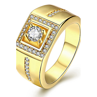 Sormus Kihlasormus Kristalli Muoti Personoitu Euramerican ylellisyyttä korujaKristalli Kupari Hopeoitu Gold Plated
