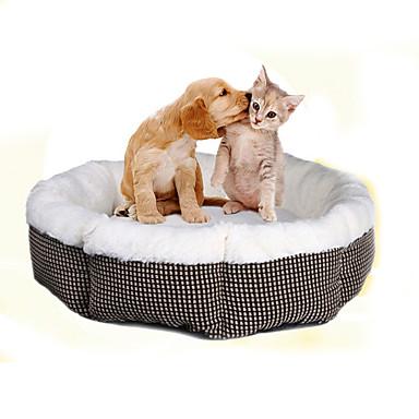 Pisici Câine Paturi Animale de Companie  Rogojini & Pernuțe Tartan/Carouri Απαλό Alb Pentru animale de companie