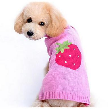 Σκύλος Πουλόβερ Ρούχα για σκύλους Καθημερινά Μοντέρνα Κινούμενα σχέδια Ροζ