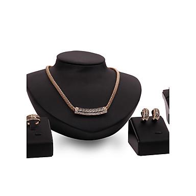 Zestawy biżuterii Rhinestone Postarzane Osobiste euroamerykańskiej Dwutonowy luksusowa biżuteria Kryształ górski Pozłacane Stop Biżuteria