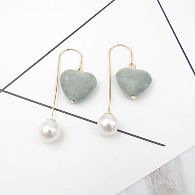 Druppel oorbellen Imitatie Parel Euramerican Modieus Legering Hartvorm Sieraden Voor Feest Dagelijks 1 Paar