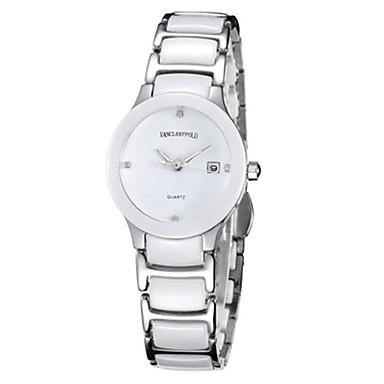 Dames Voor Stel Modieus horloge Chinees Kwarts Keramiek Band Zwart Wit