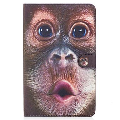 Pentru samsung galaxie tab e 9.6 caz acoperă model de maimuță pictat card stent portofel pu material piele plat de protecție coajă