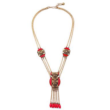 Γυναικεία Κρεμαστά Κολιέ Κοσμήματα Φιλία Φούντες χαριτωμένο στυλ Κόκκινο Κοσμήματα Για 1pc