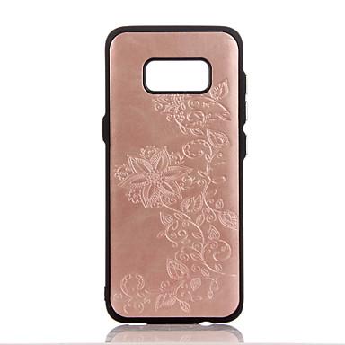 tok Για Samsung Galaxy S8 Plus S8 Ανάγλυφη Με σχέδια Πίσω Κάλυμμα Λουλούδι Σκληρή PU Δέρμα για S8 S8 Plus S7 edge S7