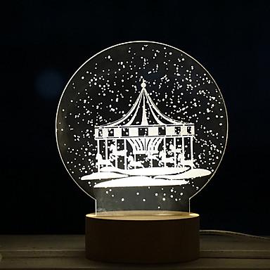 1pc creativ carusel păpădie lumina de noapte