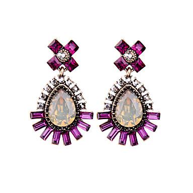 Vidali Küpeler Eşsiz Tasarım Moda Kişiselleştirilmiş Damla Mor Mücevher Için Düğün Parti 1 çift