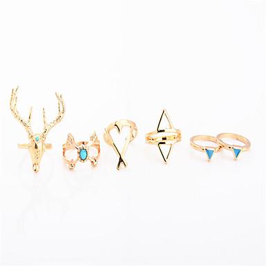 للمرأة خاتم مجوهرات مخصص موضة euramerican في يوميا فضفاض كروم غير منتظم الحلقات
