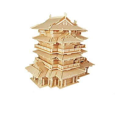 Puzzle 3D Arhitectura Chineză Distracție Lemn Clasic