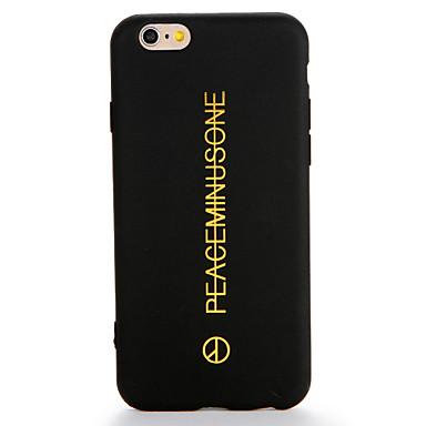 hoesje Voor Apple iPhone 7 Plus iPhone 7 Patroon Achterkant Woord / tekst Zacht TPU voor iPhone 7 Plus iPhone 7 iPhone 6s Plus iPhone 6s