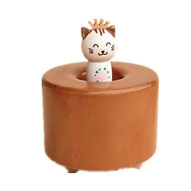 Spieluhr Katze Urlaubszubehör Holz Unisex