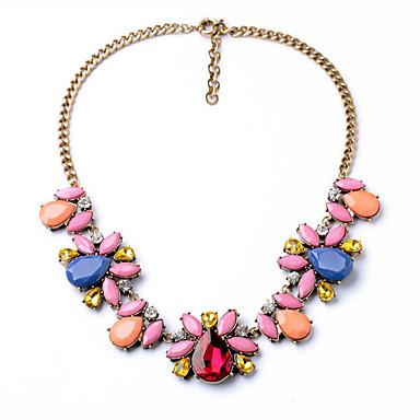 Kadın's Tellerinin Kolye Flower Shape Kişiselleştirilmiş lüks mücevher Gökküşağı Mücevher Için Düğün 1pc