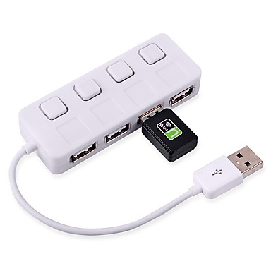 ultraohut 2,0 napa 480Mbps USB 4 porttia hub jakaja adapteri PC Laptop