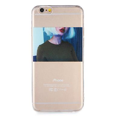 hoesje Voor Apple iPhone 7 Plus iPhone 7 Transparant Patroon Achterkant Sexy dame Zacht TPU voor iPhone 7 Plus iPhone 7 iPhone 6s Plus