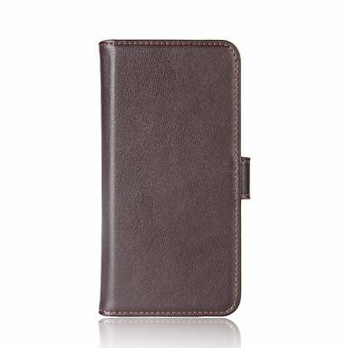 Pentru iphone 7 7plus carte portofel portofel flip caz full body caz solid culoare hard piele naturala pentru Apple iPhone 6 6s 6plus 6s