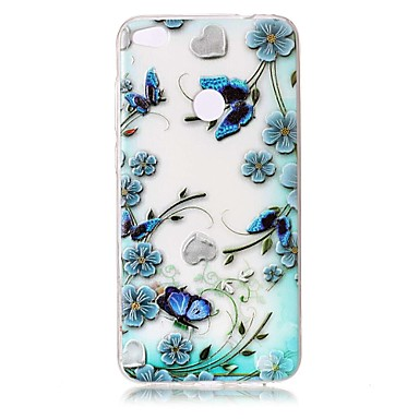 Için Kılıflar Kapaklar Şeffaf Süslü Temalı Arka Kılıf Pouzdro Çiçek Kelebek Yumuşak TPU için HuaweiHuawei P10 Plus Huawei P10 Lite Huawei