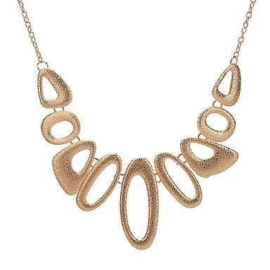 للمرأة شكل تصميم دائري تصميم فريد القلائد بيان سبيكة القلائد بيان حزب يوميا فضفاض مجوهرات