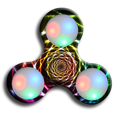 فيدجيت سبينر اليد سبينر ألعاب التوتر والقلق الإغاثة مكتب مكتب اللعب لقتل الوقت التركيز لعبة يخفف أد، أدهد، والقلق والتوحد ضوء LED ثلاثي
