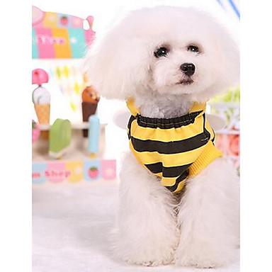 كلب الفساتين ملابس الكلاب كاجوال/يومي موضة أميرة أصفر