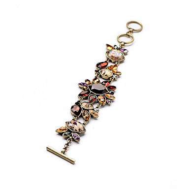 Kadın's Zincir & Halka Bileklikler Mücevher Moda alaşım Flower Shape Gökküşağı Mücevher Için Düğün Parti 1pc