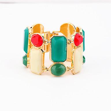 Γυναικεία Βραχιόλια με Αλυσίδα & Κούμπωμα Κοσμήματα Φιλία Βοημία Style κοσμήματα πολυτελείας Κράμα Geometric Shape Ουράνιο Τόξο Κοσμήματα