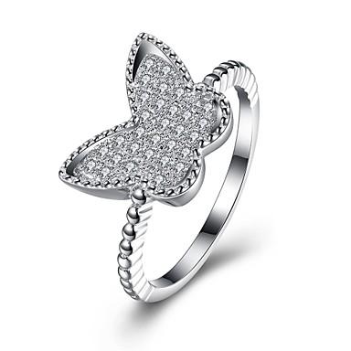 Dames Ring Zirkonia Gepersonaliseerde Luxe Meetkundig Cirkelvormig ontwerp Uniek ontwerp Klassiek Vintage Tekojalokivi Bohémien Standaard