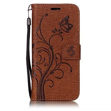 Maska Pentru Samsung Galaxy S8 S7 edge Titluar Card Portofel Cu Stand Întoarce Embosat Corp Plin Fluture Floare Greu PU Piele pentru S8