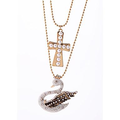 Kadın's Uçlu Kolyeler Kristal Moda Çok güzel Kişiselleştirilmiş sevimli Stil Euramerican Altın Mücevher Için Düğün Parti 1pc