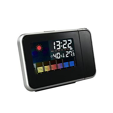 Ξυπνητήρι οικιακής προβολής με οθόνη θερμοκρασίας και υγρασίας