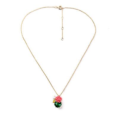Γυναικεία Κρεμαστά Κολιέ Flower Shape Μοναδικό Euramerican Κοσμήματα Για Causal Χριστουγεννιάτικα δώρα