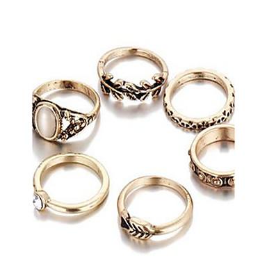Damskie Zestawy biżuterii Pierscionek Podstawowy Syntetyczne kamienie szlachetne Circle Shape Pierścionki Na Codzienny Casual Prezenty