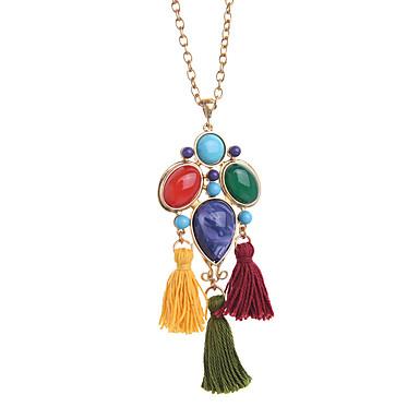 Damskie Naszyjniki z wisiorkami Geometric Shape Unikalny Frędzle Biżuteria Na Codzienny