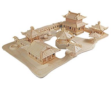 قطع تركيب3D النماذج الخشبية مجموعات البناء الزراعة الصينية لهو خشب كلاسيكي